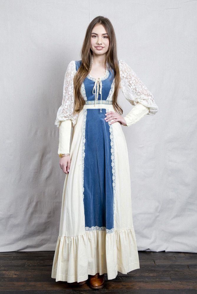 Renaissance Style Gunne Sax Dress