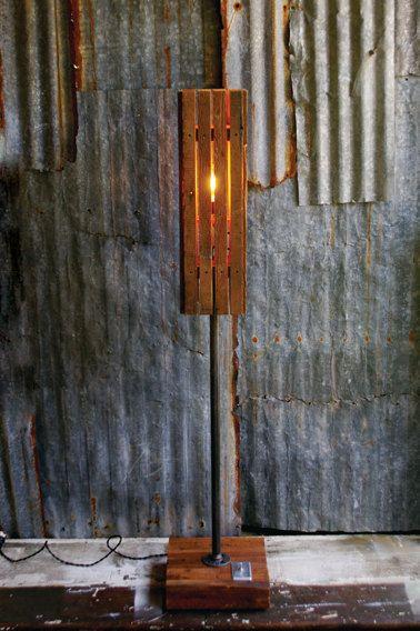 Reclaimed Barn Wood Floor Lamp Diy Floor Lamp Floor Lanterns