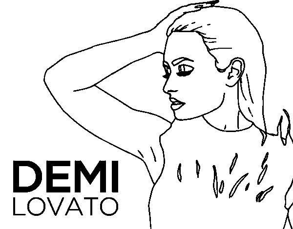 Demi Lovato Confident Colorear Jpg 600 470 Demi Lovato Lovato Demi