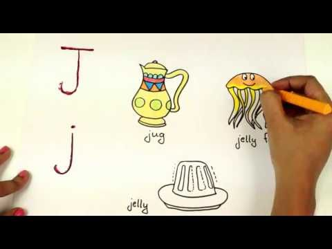 Coloring Letter J J How To Draw Alphabets Baby Tube Fun Kids Learning Page Youtube Coloring Letters Kids Learning Letter J