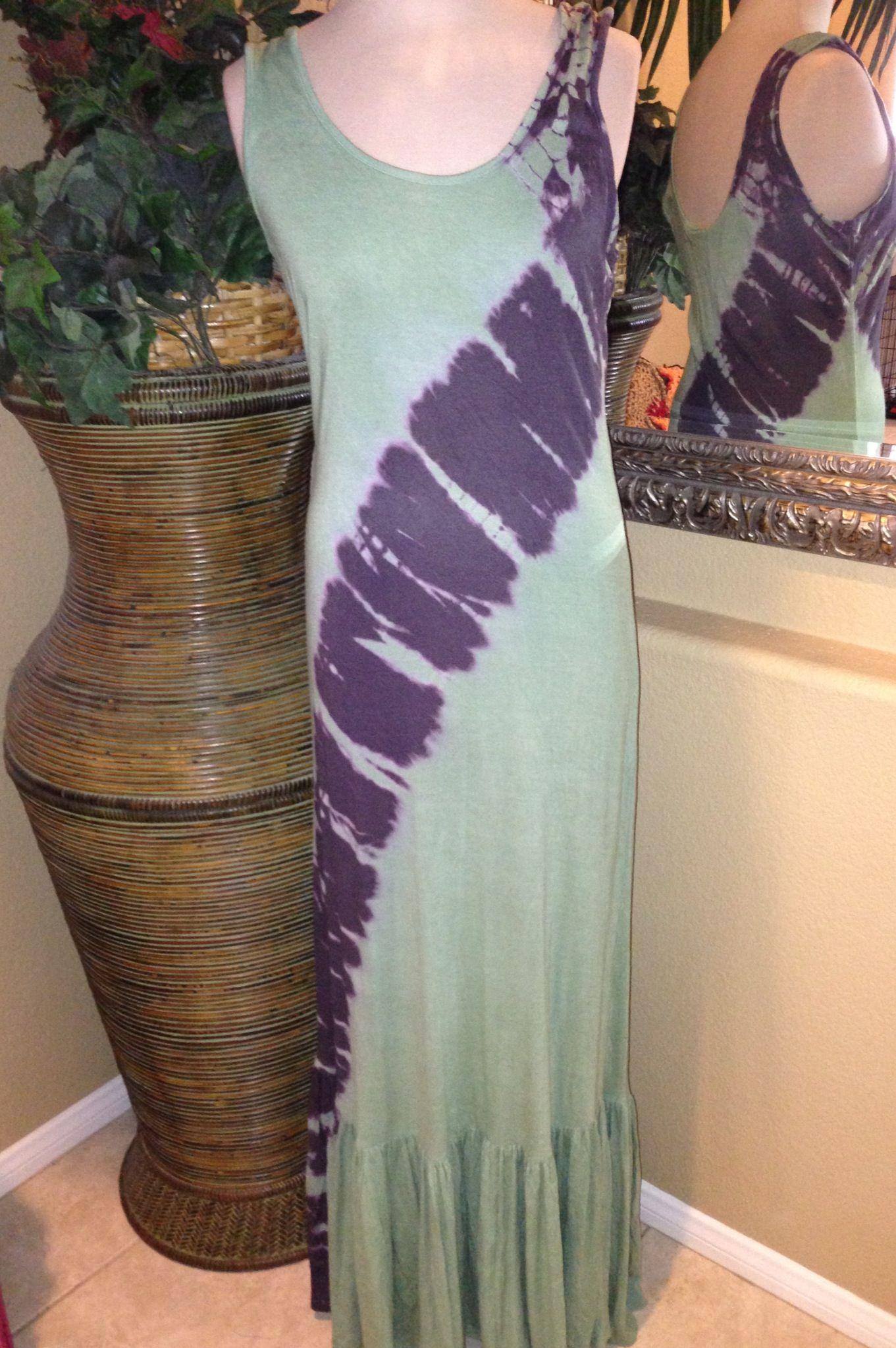 Long browngreen maxi dress shannasthreads maxi dresses