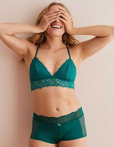 872726975c Aerie Holiday Lace Triangle Bralette