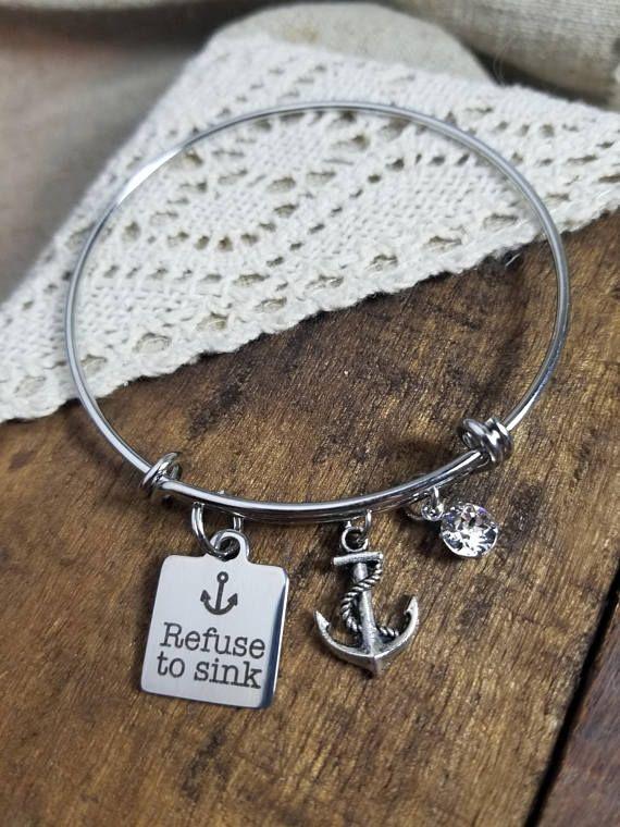 Refuse to sink anchor bracelet  https://www.etsy.com/listing/521622406/refuse-to-sink-anchor-bracelet-nautical