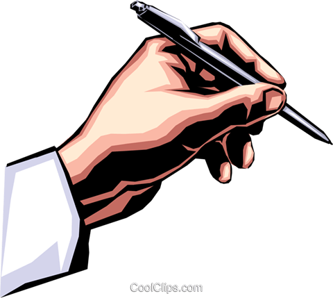 Hand Writing With Pen Royalty Free Vector Clip Art Illustration Hand0168 Illustration Art Hand Illustration Illustration