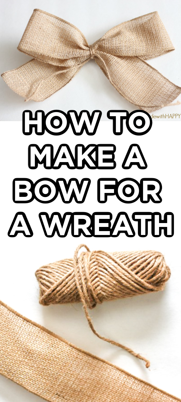 Photo of How to Make a Bow for a Wreath