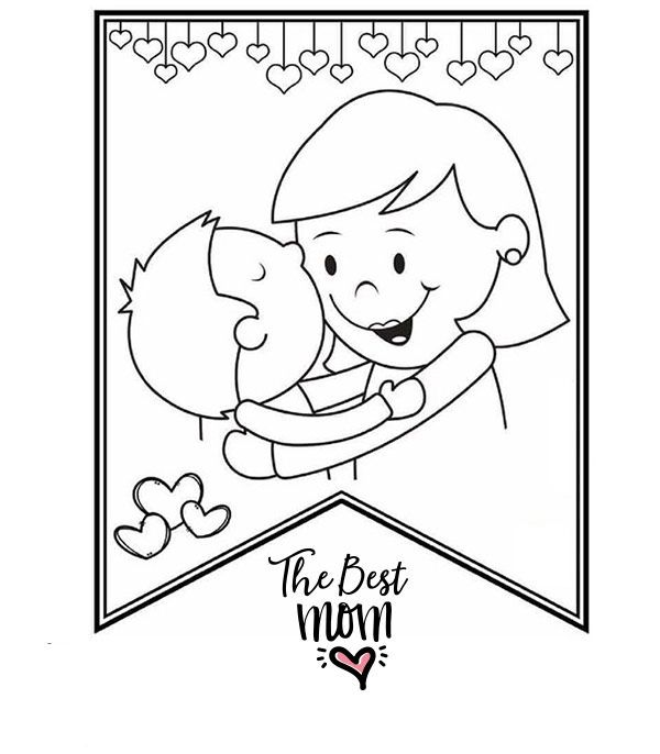 Printable Mothers Day Cards To Color PDF in 2020 | Mothers ...