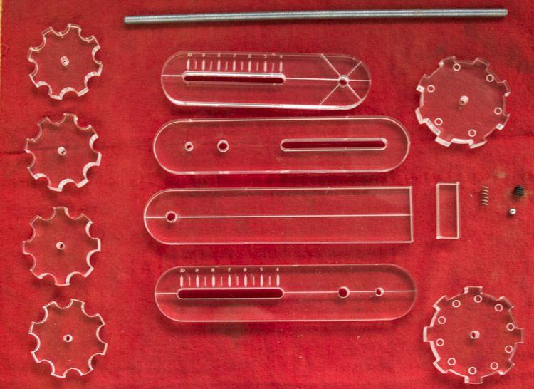 Partes necesarias para armar la rótula Quimbaya 360