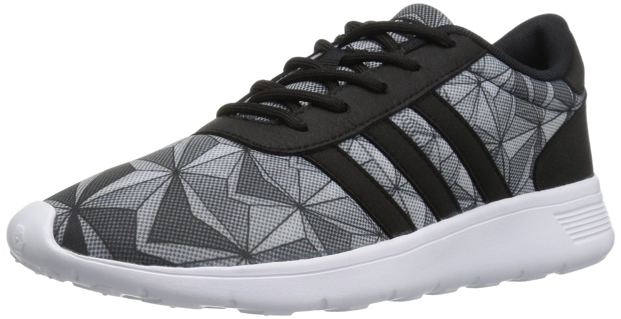 low priced e2087 f9aa7 ... canada adidas neo womens lite racer w running shoe black white black 8  7f136 a3ad3