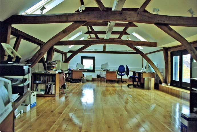 converted barn to office designs