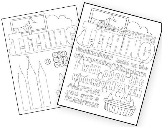 Lds Tithing Coloring Pages To Help In Teaching The Law Of Tithing