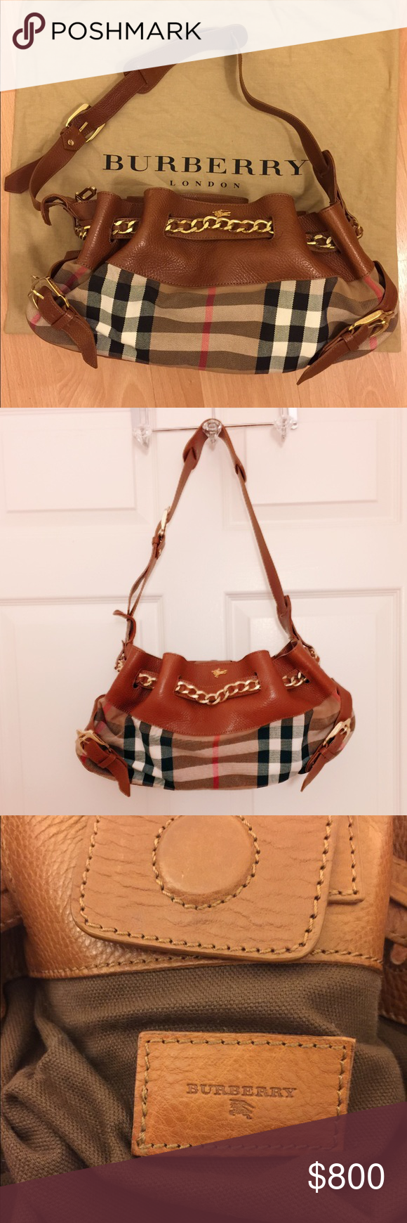⭐️Clearance Burberry Margaret Leather+Canvas Bag  2fa4cfaf8adf3