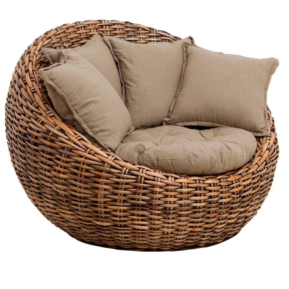 Good Dune Round Loveseat Kretes Occasional Chair SP161 Platina Brown $439