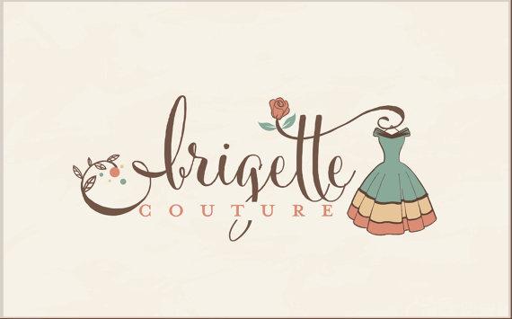 Fashion Logo Design Vintage Logo Boutique Logo Ruistic Logo Fashion Dress Logo Design Watermark Fashion Logo Design Boutique Logo Design Blog Logo Design