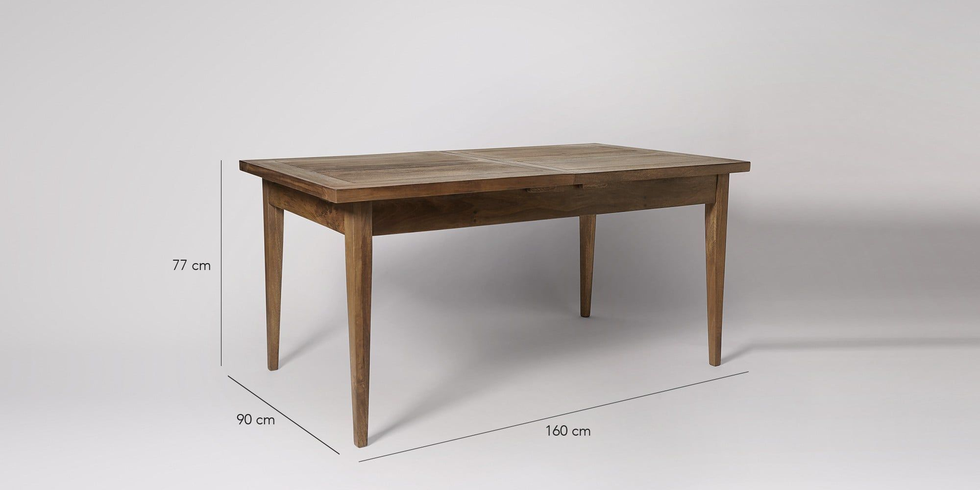 Hartford Extendable Dining Table Modern Country And Woods - Light wood extending dining table