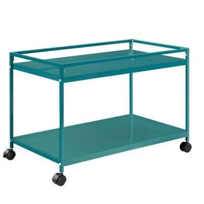 Our favorite new products for the home on Overstock: Keep this metal coffee table in front of the sofa, or roll it where you need it. Choose from one of four bright colors to give your space some extra pizzazz.