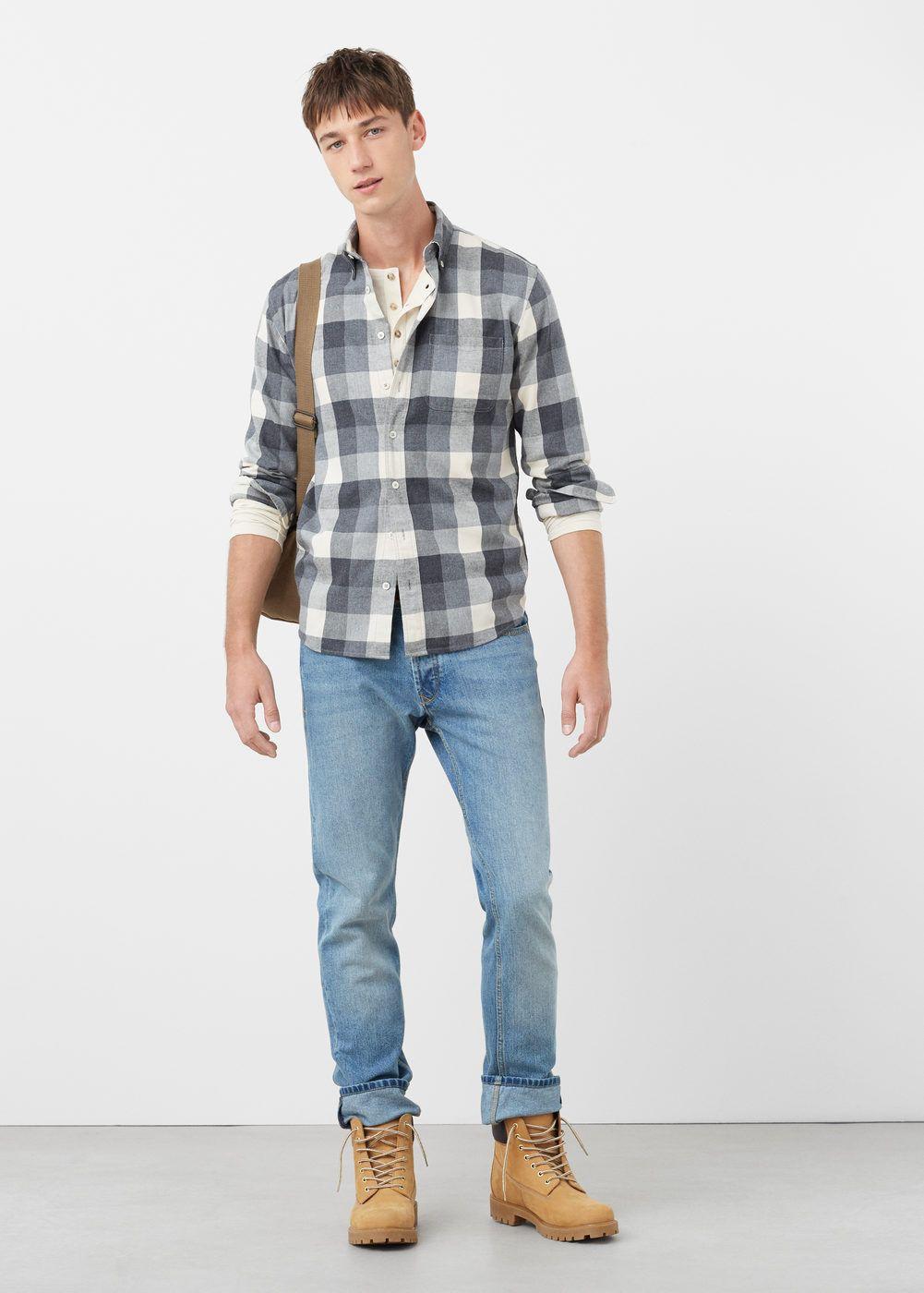 Flannel shirt and shorts men  Slimfit check flannel shirt  Men  Strike a Pose  Pinterest