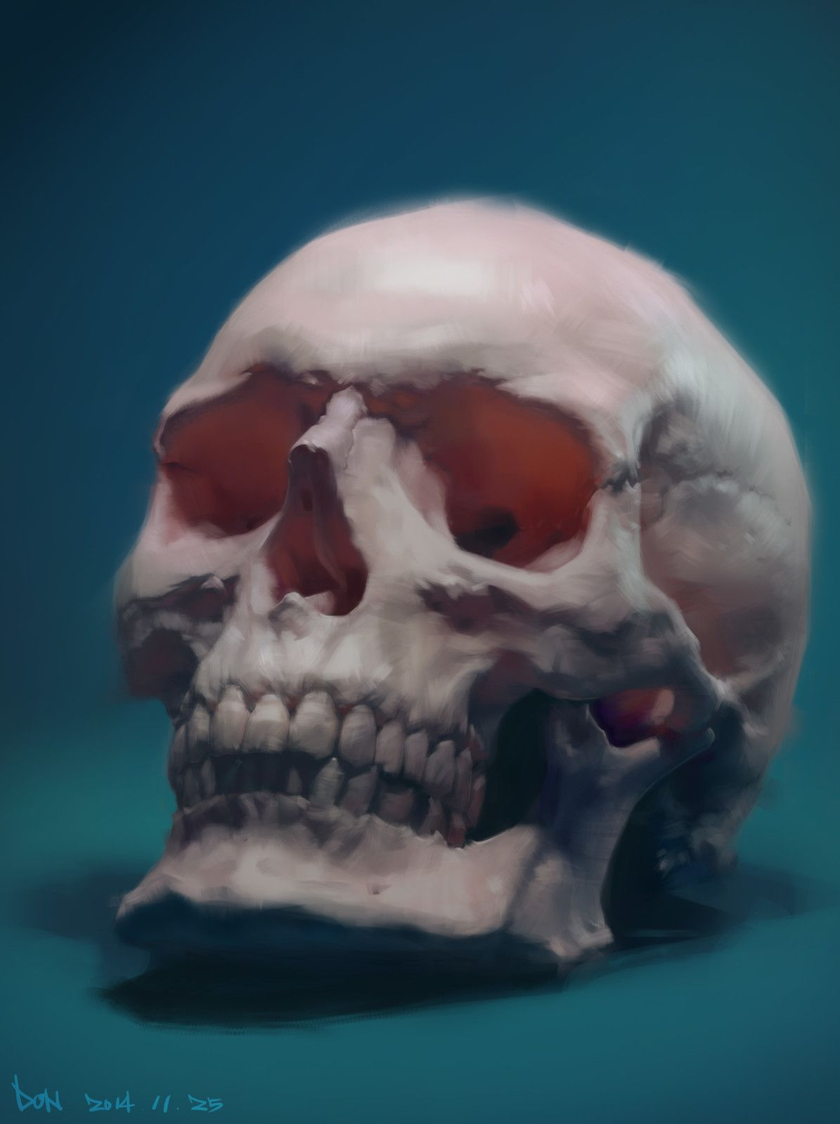 skull, Don Chen on ArtStation at https://www.artstation.com/artwork/PGZPL