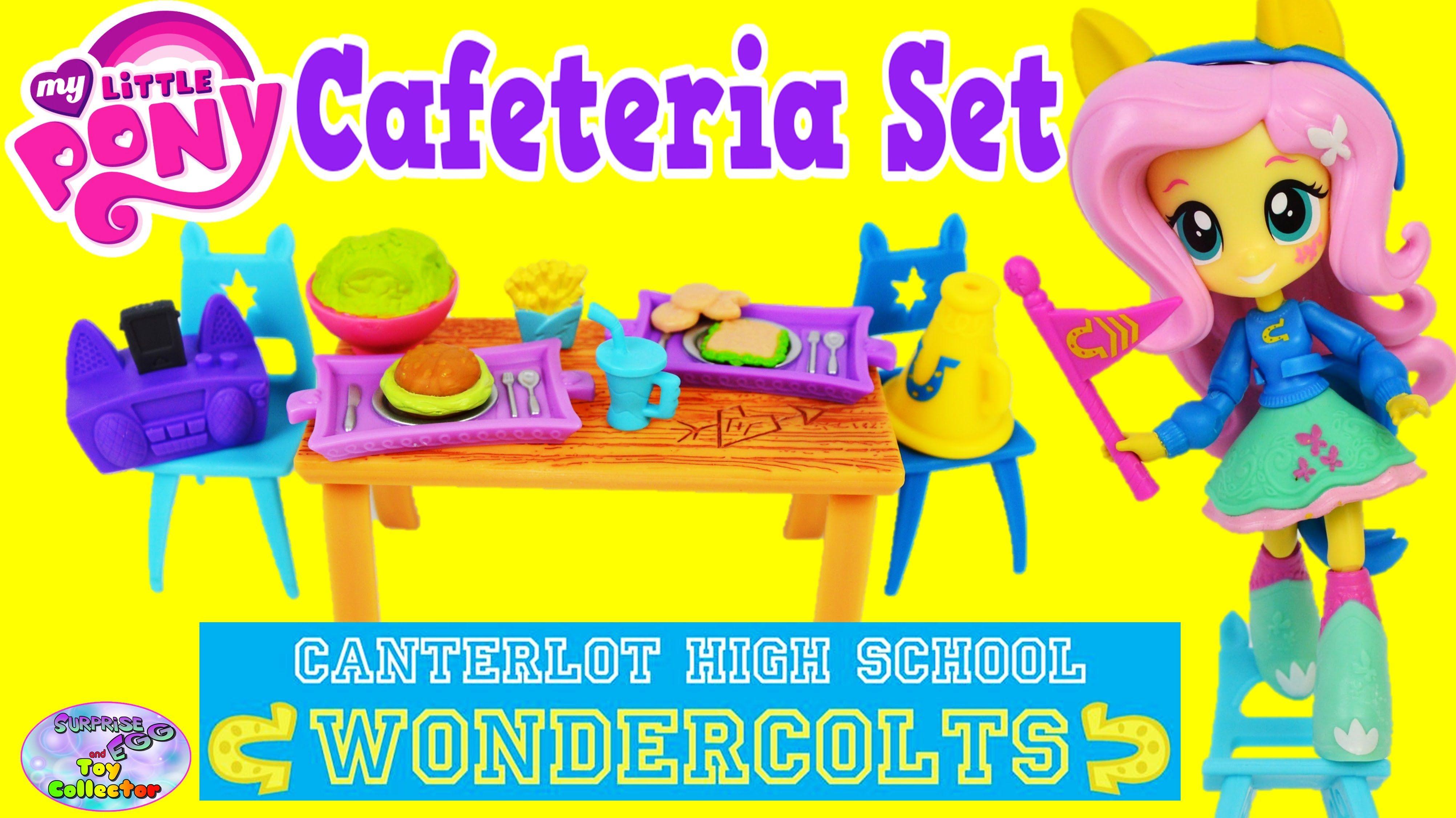 My Little Pony Equestria Girls Minis Cafeteria Set Fluttershy Surprise E...