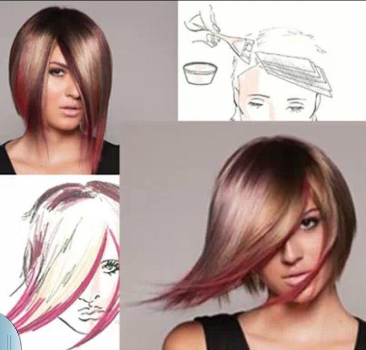 Peek A Boo Halo Effect Pinwheel Hair Color Hair Color Techniques Hair Color Placement