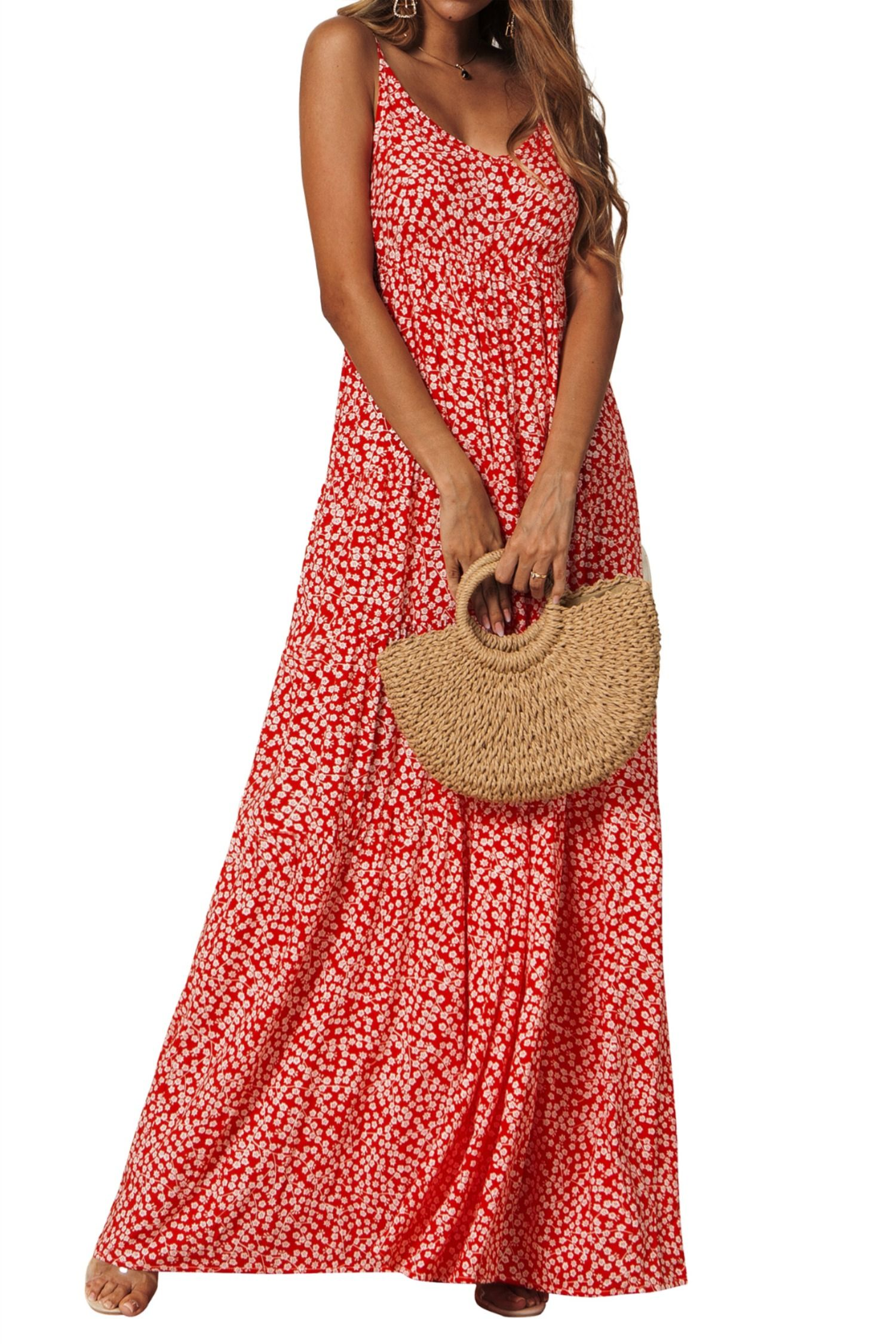 LADIES WOMENS Oversized Boho Floral Mini Dress Beach Casual Strappy Vest Dresses