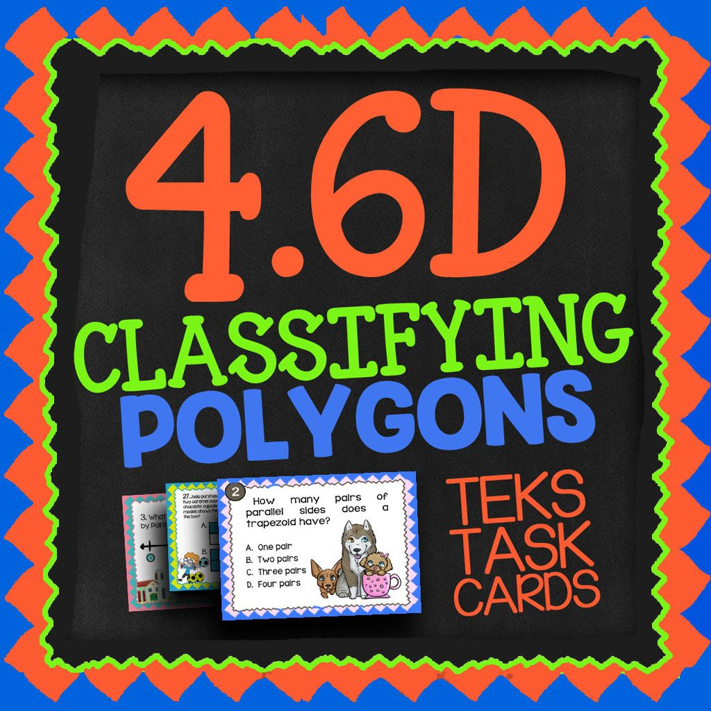 Math Tek 4 6d Classifying Polygons 4th Grade Staar