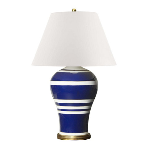 Beau Delphine Table Lamp In Blue And White   Table Lamps   Lighting   Products    Ralph Lauren Home   RalphLaurenHome.com