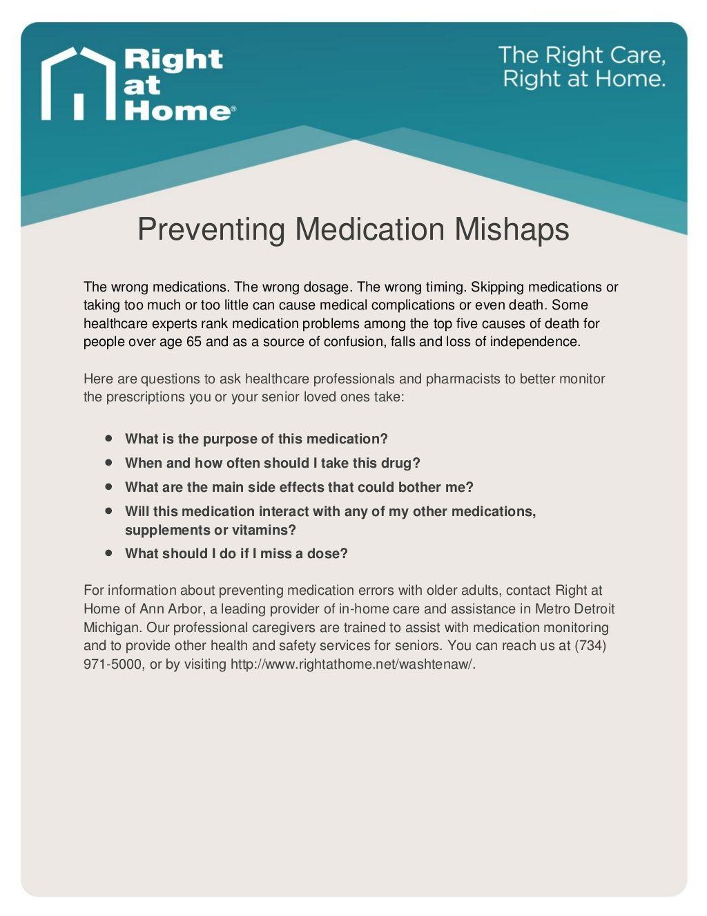 InHomeSeniorCare Tip How Seniors Can Minimize Medication