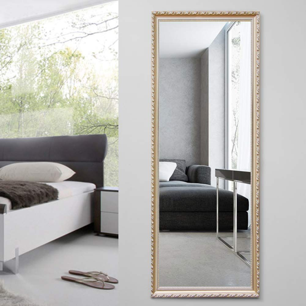 Amazon Com Neutype 65 X22 Full Length Mirror Standing Hanging Or Leaning Against Wall Large Rectangle Bed Frames On Wall Dressing Mirror Wall Mounted Mirror