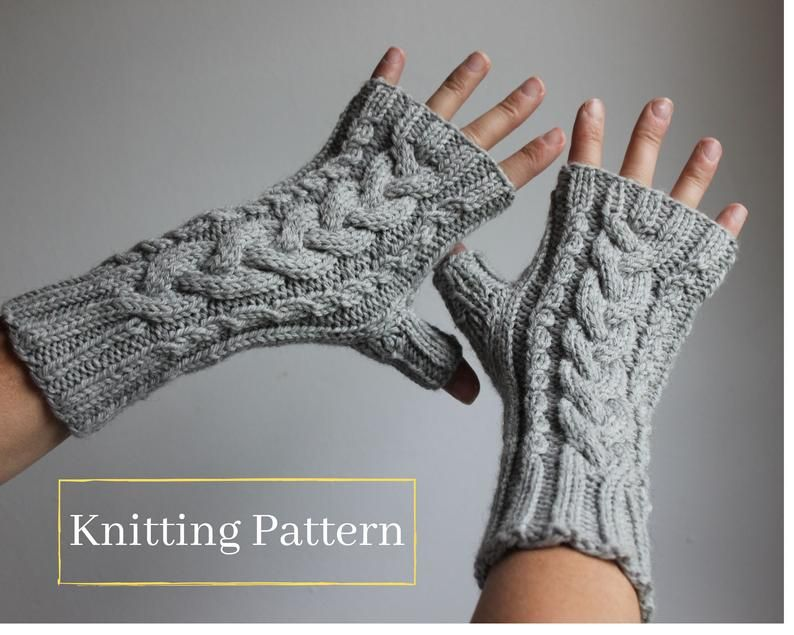 Fingerless Short Mittens Short Mitts PDF Arm Warmers Adjustable Size Fingerless Gloves Vintage Mitts with Buttons Knitting Pattern