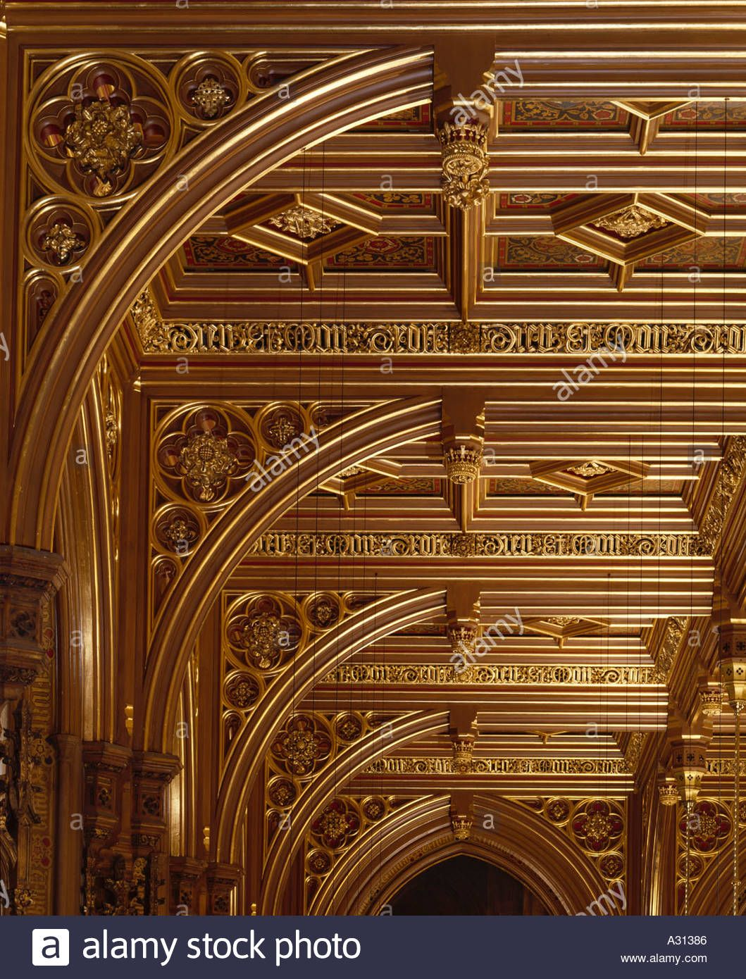 House Of Lords, Interior Restoration Houses Of Parliament, London, 1840    1852. Architect: Augustus Welby Pugin