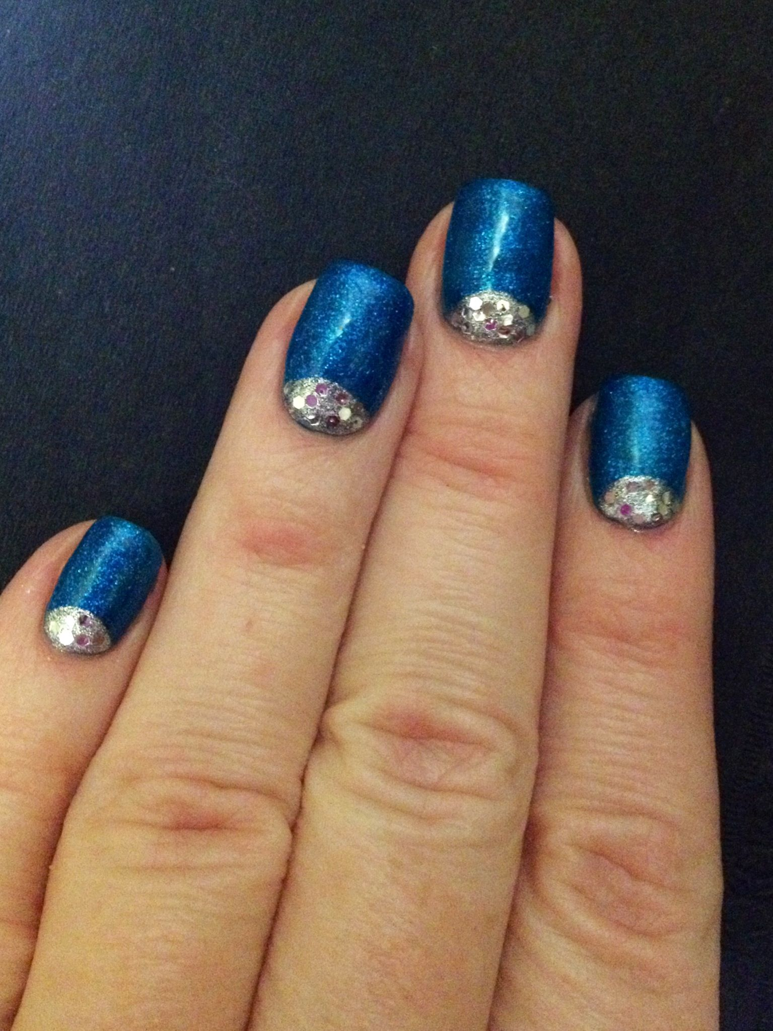 Bio Sculpture gel nails with reverse French. Little Prince base and ...