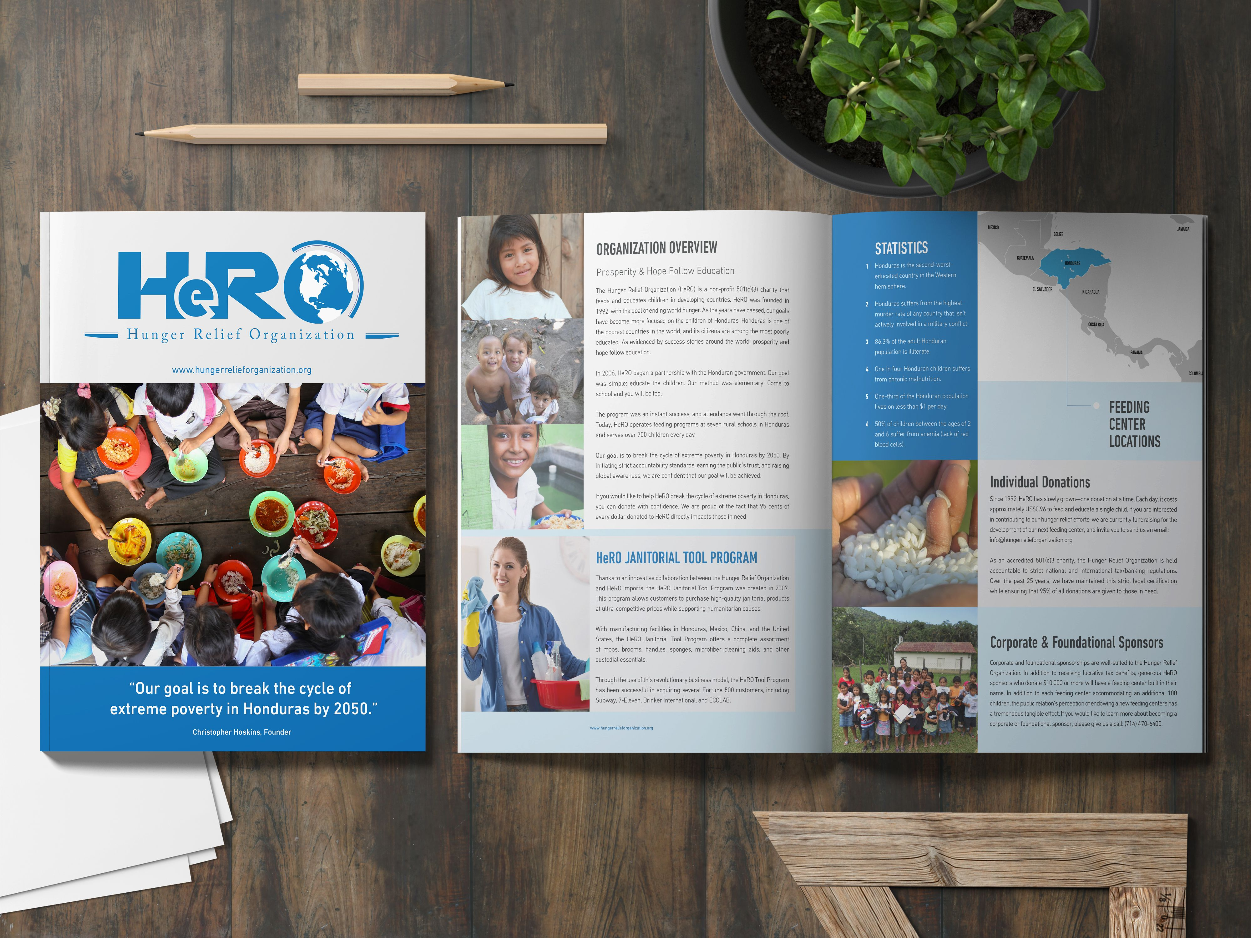 The Hunger Relief Organization Hero A 501 C 3 Non Profit Charity Is Came To Our Team Looking For A Brand Overhaul We Redesigned The Logo Website Business