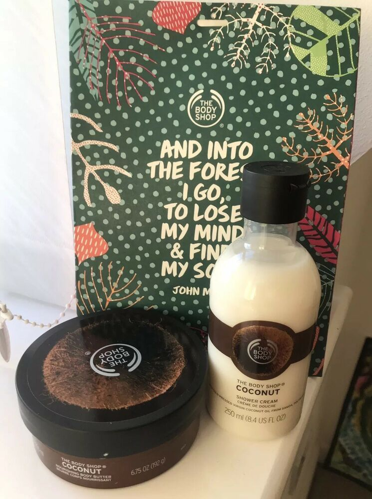 Christmas Gift Sets Body Shop.Details About Body Shop Christmas Gift Set Coconut Body