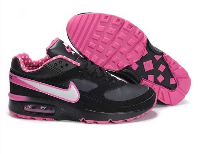1767 : Nike Air Max Classic Bw Dam Svart Rosa Rosa Vit