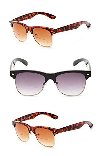 0fb7947fc7 3 Pair of Classic The Established Bifocal Unisex Reading Sunglasses Soft  Pouches Included BlackTortoise 3