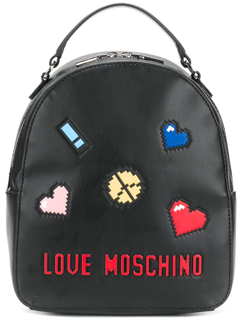5a8e9a2216 LOVE MOSCHINO . #lovemoschino #bags #leather #backpacks # | Love ...