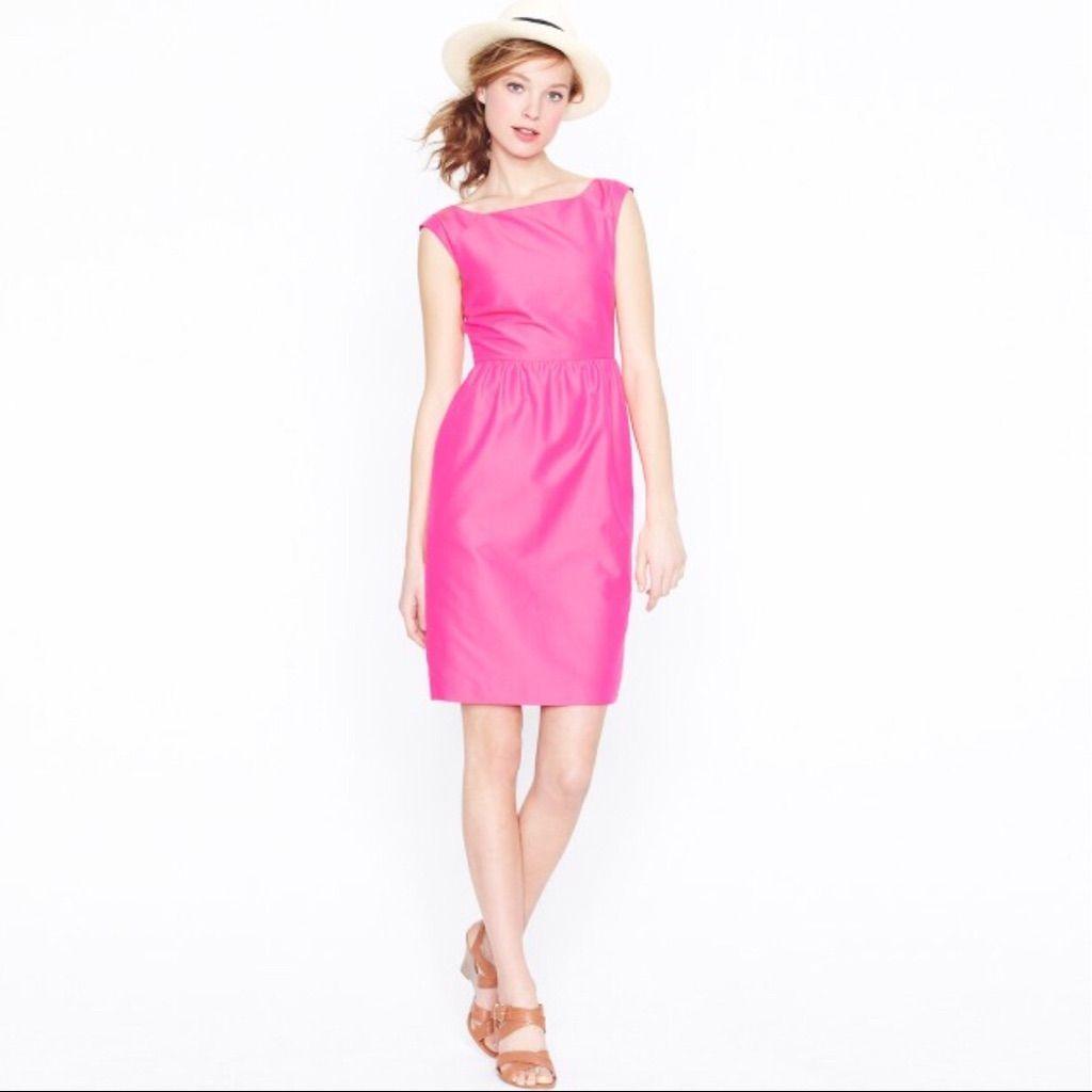 J crew lucille pink sleeveless retro dress products pinterest