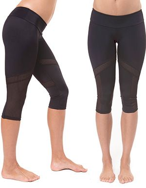 Mesh Inset Capri Pant -Hot Yoga Pant | Want it Workout Clothes ...