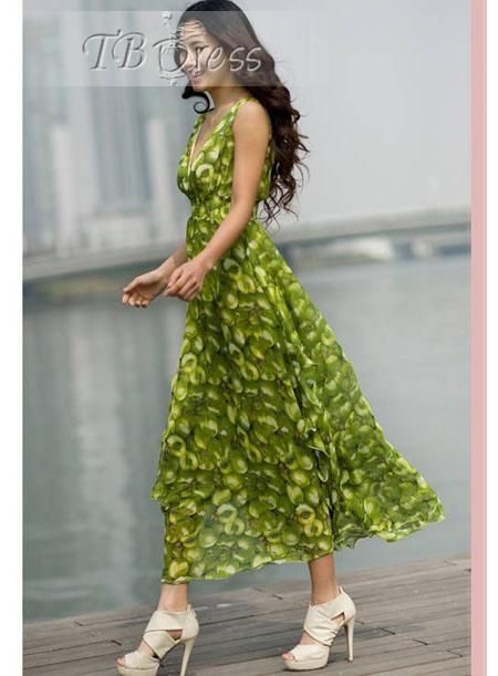 Luxury Korean Style Maxi Chiffon Dress