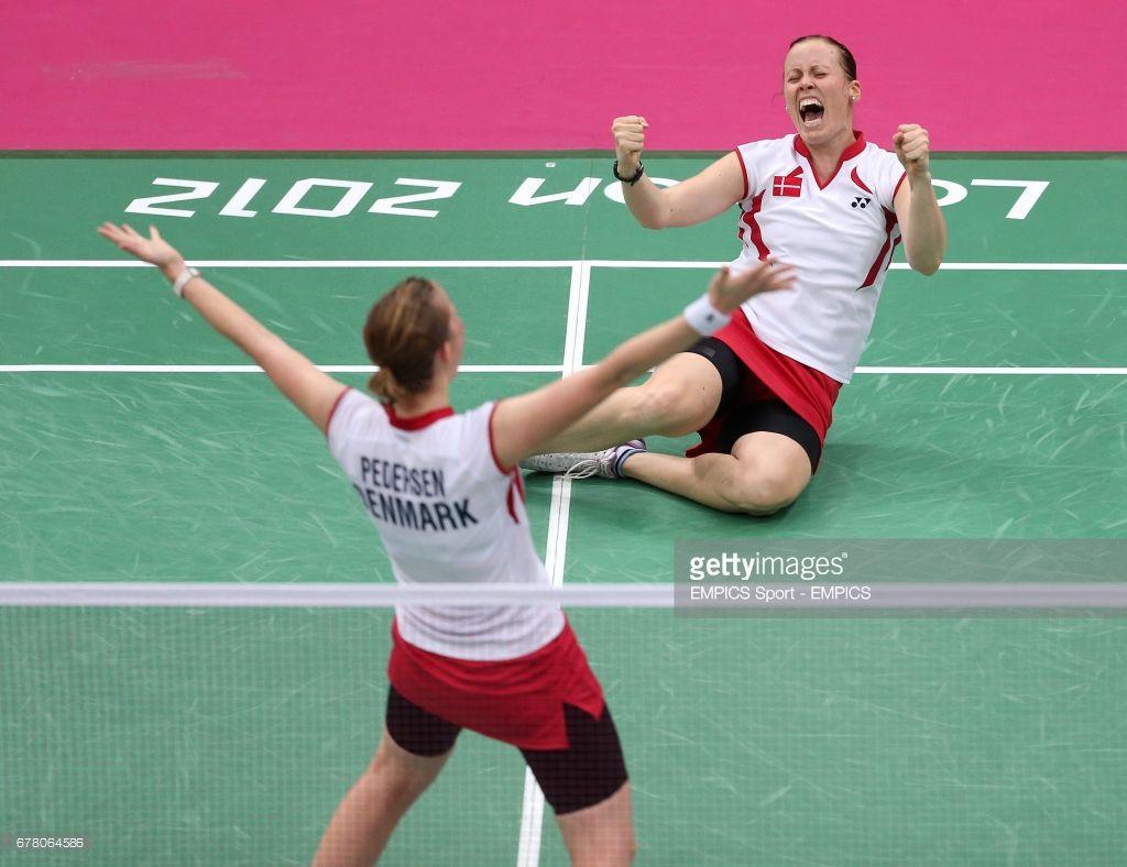Denmark s Kamilla Rytter Juhl and Christinna Pedersen celebrate