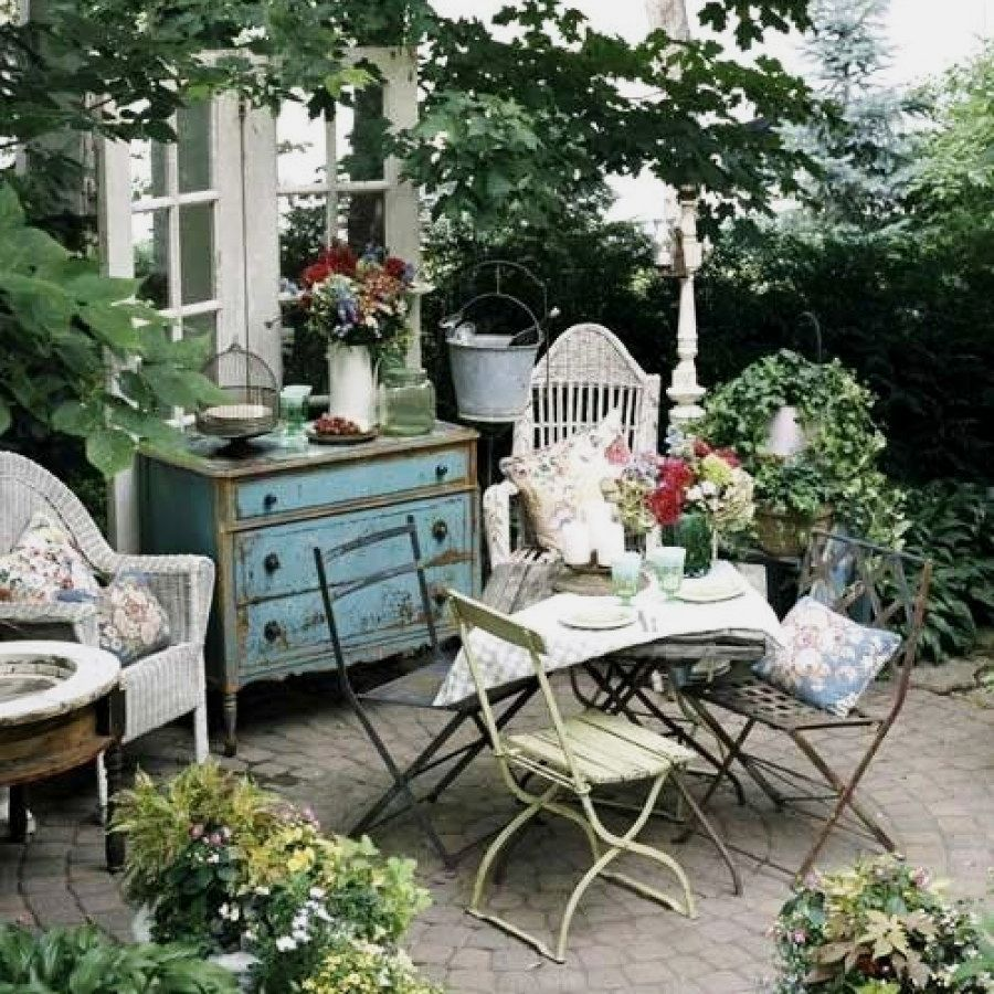 beautiful shabby chic outdoor ideas to