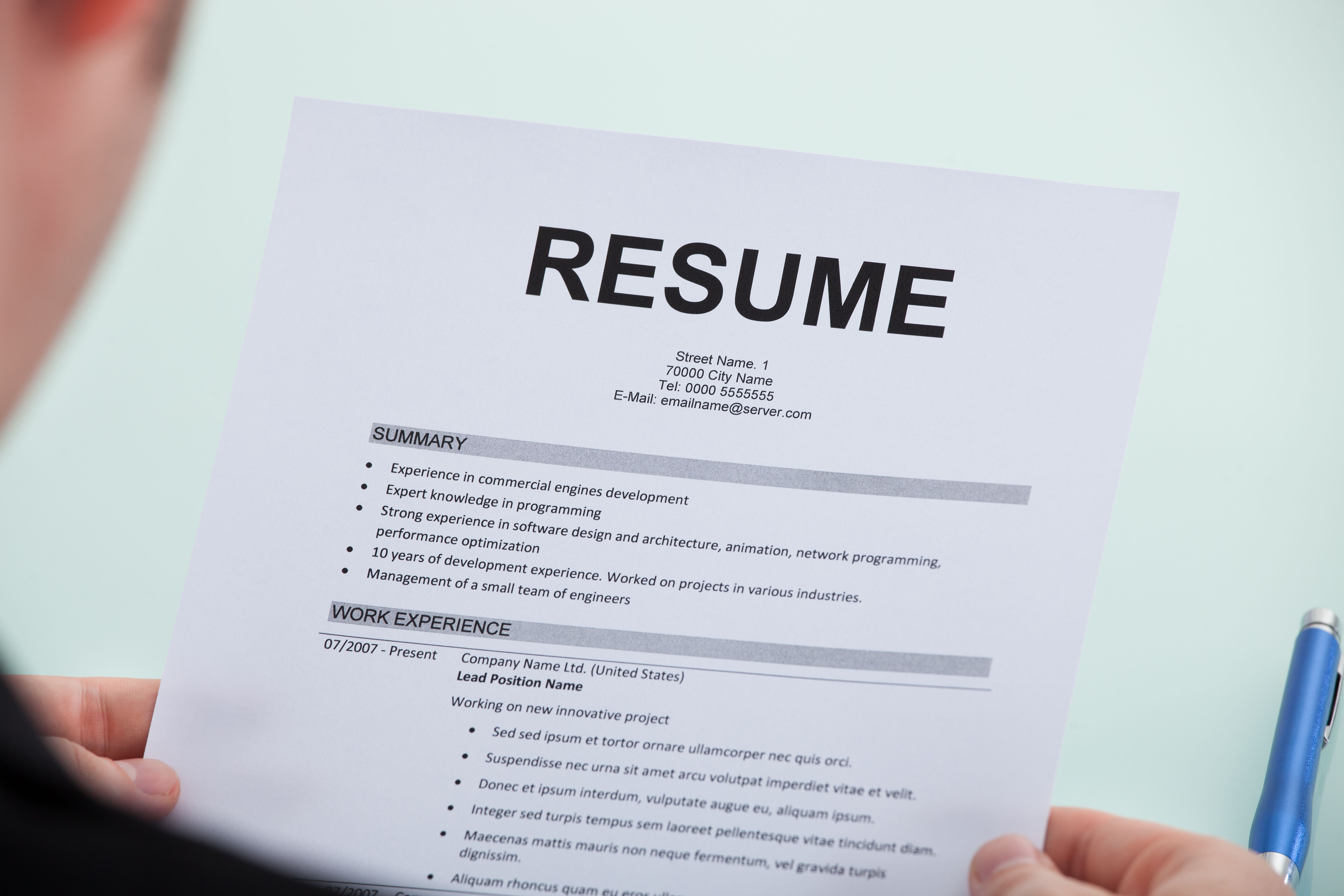 Get your resume noticed resume resume tips first resume