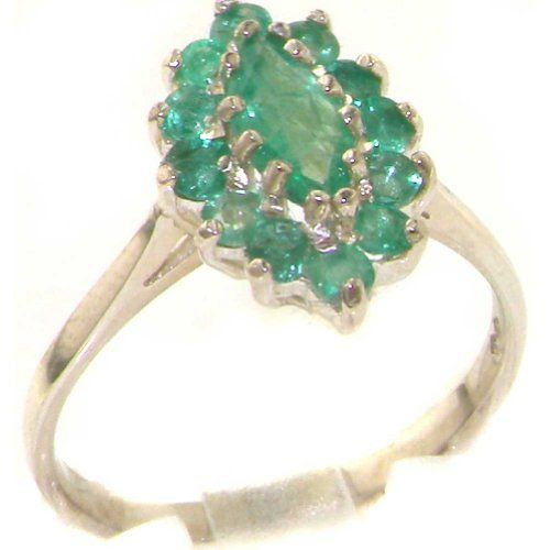 ANY SIZE 4-12 Emerald Gemstone Solid 925 Sterling silver Ring Jewelry