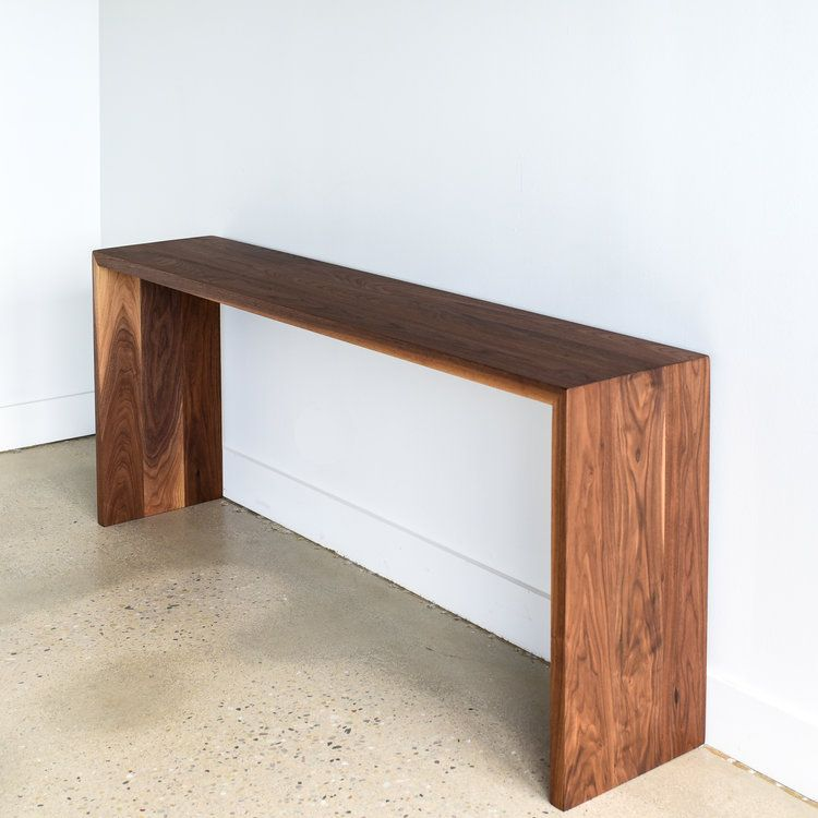 Modern Walnut Console Table Diy Console Table Modern Console