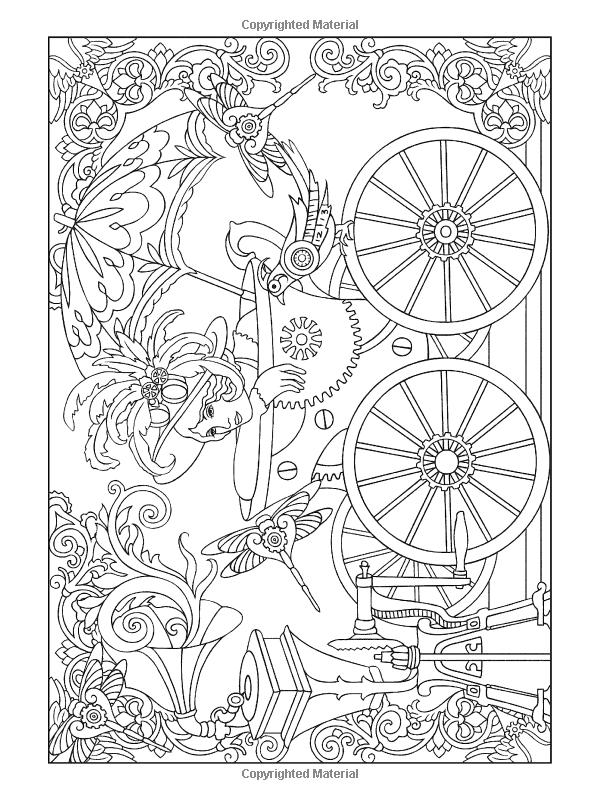Amazon.com: Creative Haven Steampunk Designs Coloring Book ...