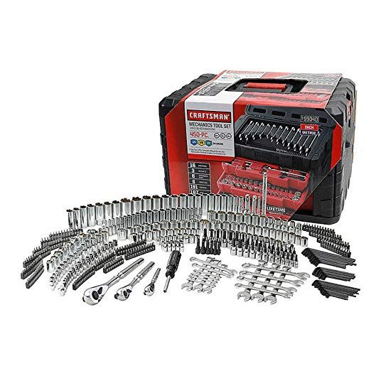 Craftsman 450 Piece Mechanics Tool Set With 3 Drawer Case Box # 311 254 230