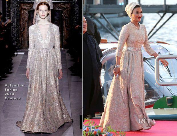 Sheikha Mozah bint Nasser Al Missned of Qatar In Valentino Couture ...