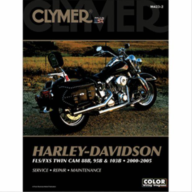 Clymer M423 2 Harley Davidson Fls Fxs Twin Cam 88b 95b 103b 00 05 Manual Clymer Harley Davidson Harley Softail