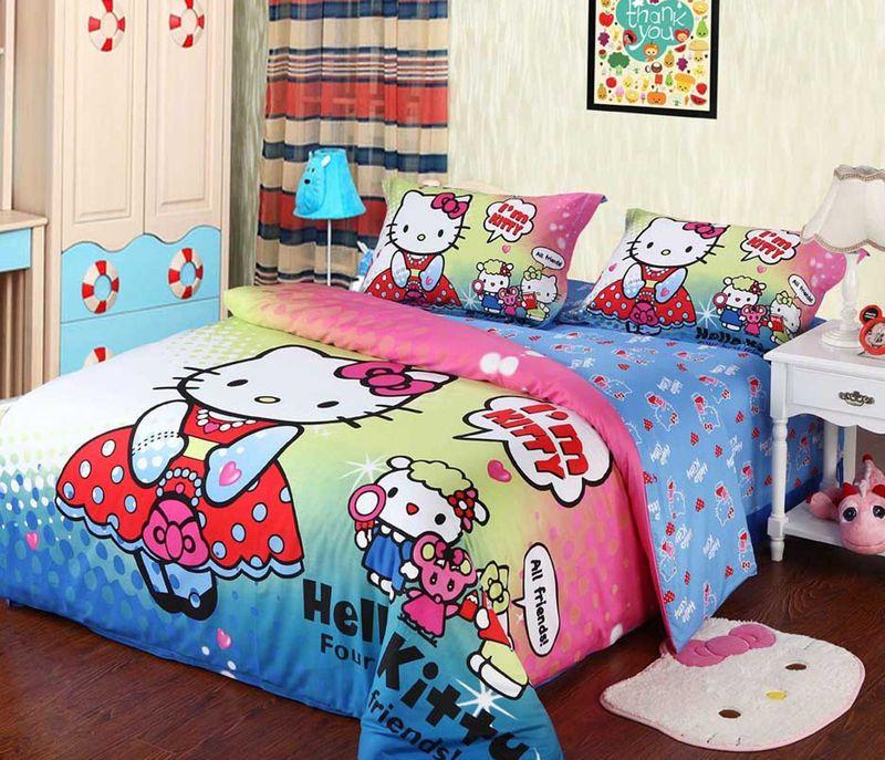 2013 New Hello Kitty Bedding Set Bedsheet Quilt Case ...