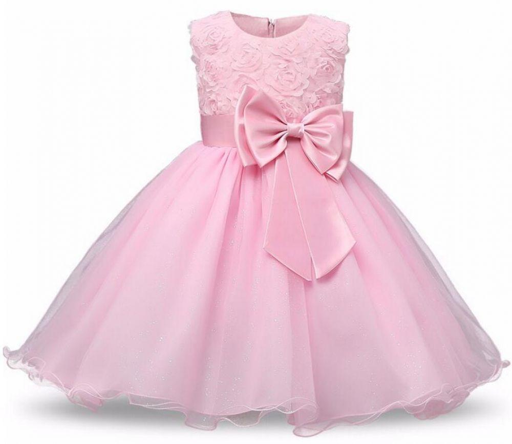 New Formal Princess Girl Party Dress Girls Wedding Bridesmaid Flower Costume